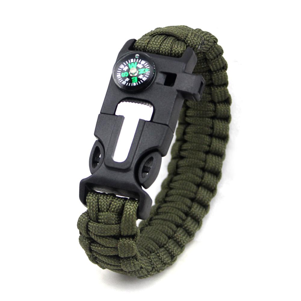 China Manufacturer 2346mm Parachute Charm Team Bracelets, Nylon Rope Buckle Survival 550 Paracord Bracelet