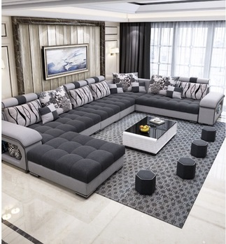 Customizable Furniture Factory Provided Living Room Sofas/Fabric Sofa Bed Royal Sofa set 7 seater living room Furniture designs