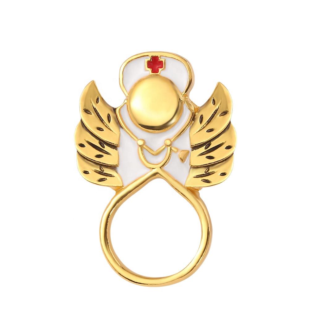 Medical Professional Angel Pin Nurse Angel Pin Silver Nurse Brooch