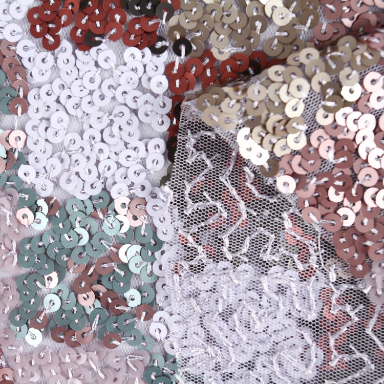 Fancy textiles embroidery sequin party dress dance fabric full sequin fabric