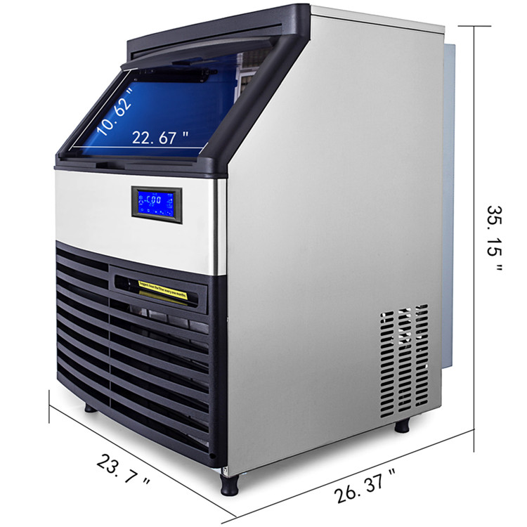 Нержавеющая сталь + ABS машина для изготовления льда 200 кг Коммерческая Машина для упаковки льда портативная машина для приготовления льда