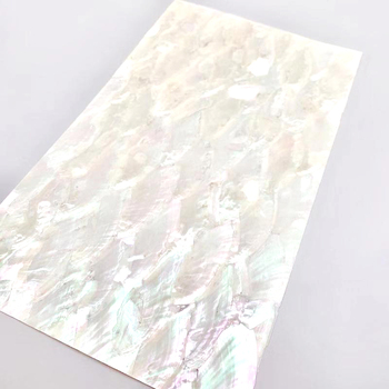 Wholesale customized natural mother of pearl shell paper laminate river shell sheet abalone shell price for diy