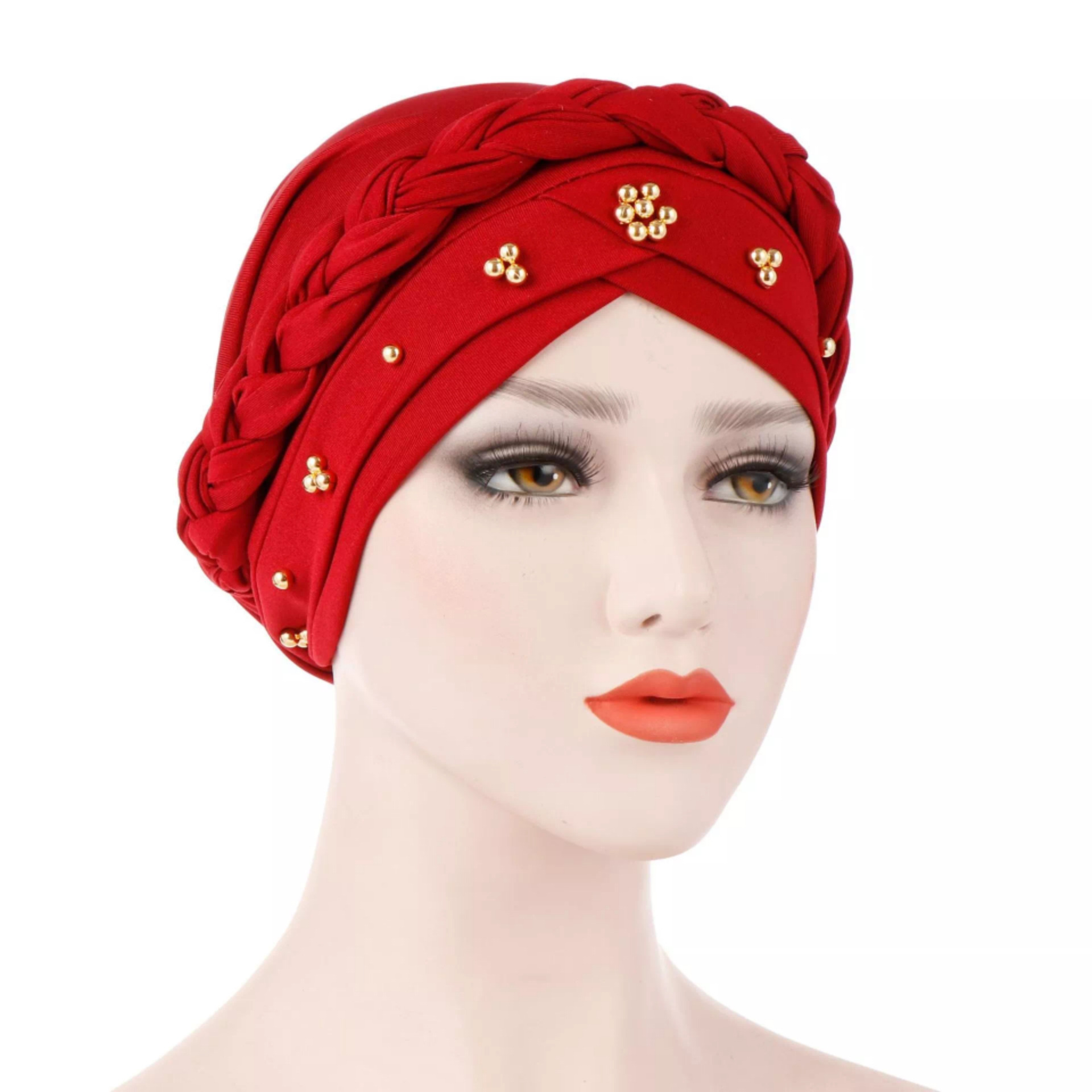 2020 Fashion Design Women Headband Turban Hat Middle East Countries Muslim Beads India Turban