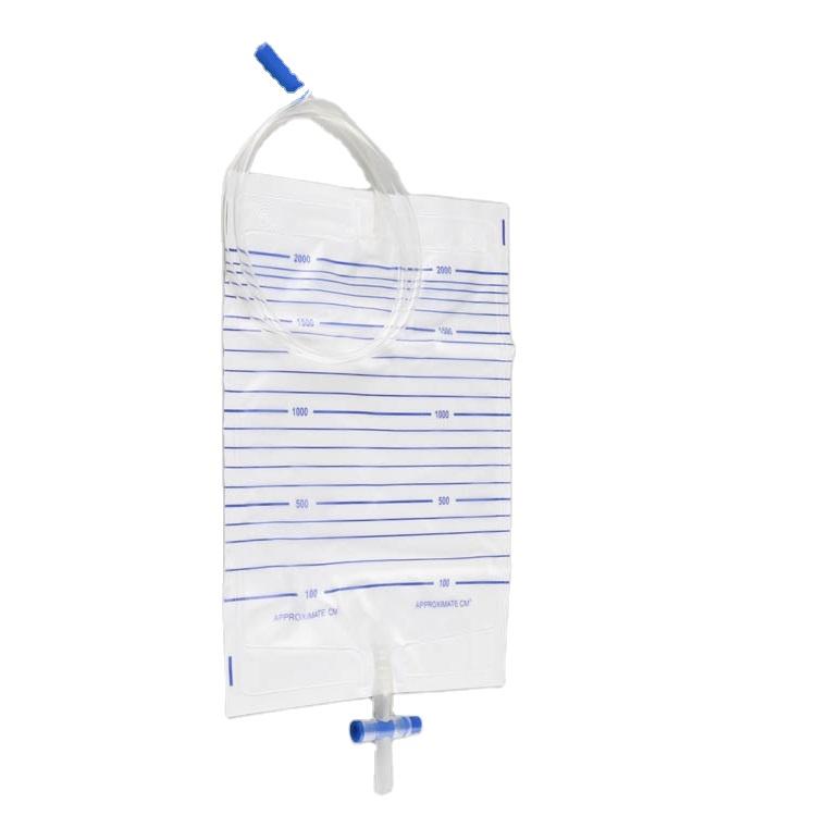 High Quality  Medical Grade PVC 2000ml Disposable Urine Meter Drainage Bag
