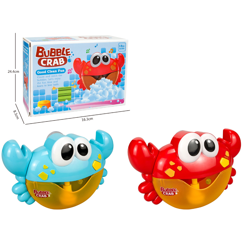 2020 top selling crab design bathroom bubble making toy new bubble machine toy crab bubble machine
