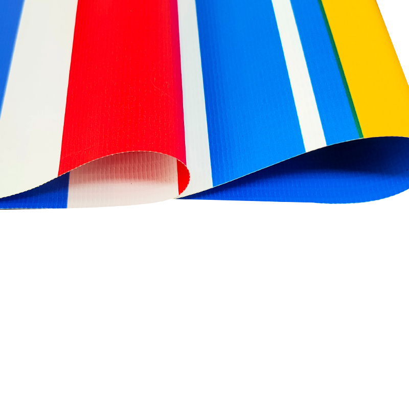 Tarpaulin China good price pvc stripe tarps outdoor awning fabric