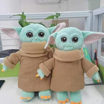 25CM/9.8 INCH Tall Collection Soft Stuffed Animal Doll Yoda Baby Plush Toy Master Yoda Stuffed Doll Toys Children Gift