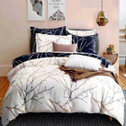 Set Printed Duvet Sets Wholesale European Style Soft Disperse Printing Sheet Fit Reversible Bedding Duvet Cover Set