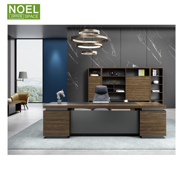 Современный деловой роскошный большой шкаф для документов, офисный деревянный шкаф