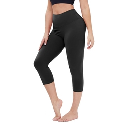Butter Soft Slim Tummy Control Exercise Pants Gym Wear Yoga Workout High Waisted Capri Leggings for Women