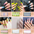 Nails Nail 2021 New Arrives Matte Polished European Style 24 Pcs Long Fake Nails Press On Nail