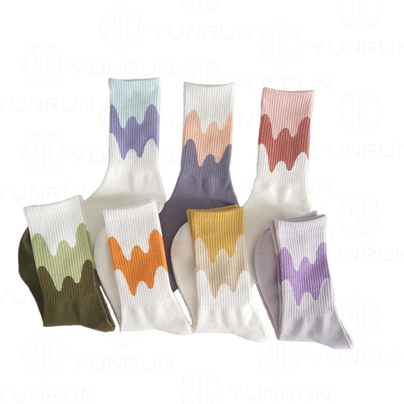 Индивидуальные спортивные носки цветные уличные модные носки женские Спортивные Компрессионные спортивные носки