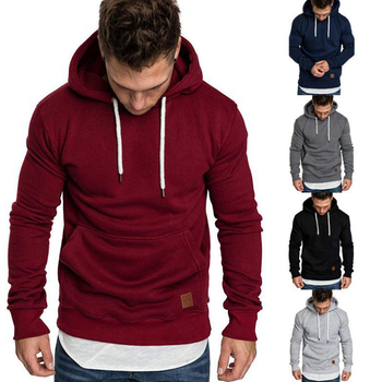 Custom Brand Hoodies Men Casual Sportswear Man Hoody Long-sleeved Sweatshirt