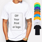 T-shirt Tshirts Shirt Plain White Shirt Free Samples Plain Plus Size Men's T-shirt Cotton Custom Oversized Men Tshirts White Blank Mens Custom T Shirt