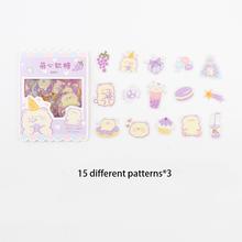 VanYi 45 шт/стикер для канцелярских товаров PVC Kawaii милые канцелярские корейские стикеры эстетические Мультяшные бумажные куклы Декоративные н...(Китай)