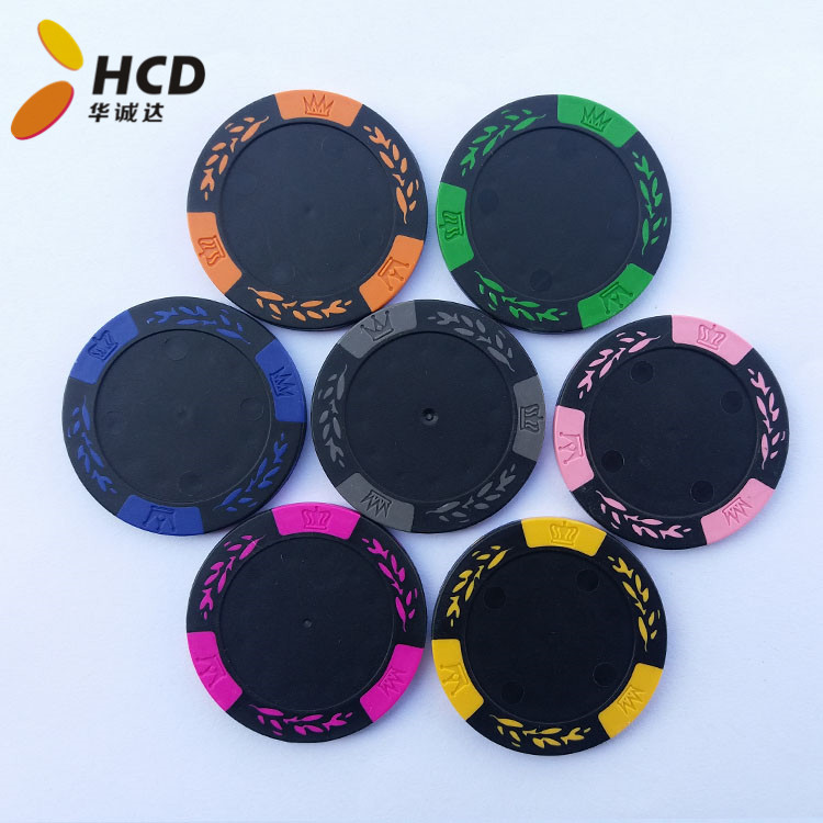 blank casino poker chips with your sticker logo Wheat leaves casino chips