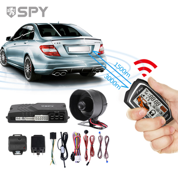 SPY Smart Siren Immobilizer Auto Universal Remote Control Security Car Alarm System