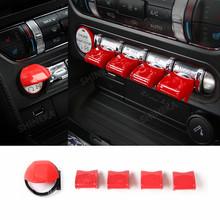 Защитная Наклейка SHINEKA для автомобиля Ford Mustang, красный комплект для украшения интерьера, аксессуары для Ford Mustang 2015 + Автомобильный Стайлинг(Китай)