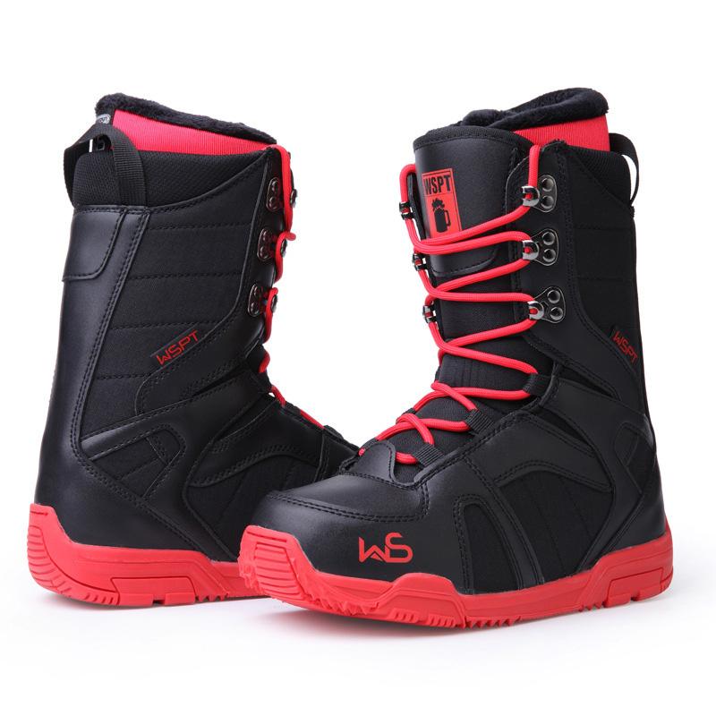 Оптовая продажа, водонепроницаемые сноуборды, ботинки из искусственной кожи для женщин и мужчин, зимние Нескользящие лыжные ботинки для сноуборда для взрослых