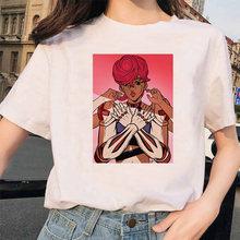Женская футболка с короткими рукавами LUSLOS Kujo Jotaro, белая Повседневная футболка с принтом японского аниме, уличная одежда(Китай)