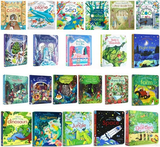 21 styles of Usborne Peep Inside books series 3D Flap Picture Books childrens books
