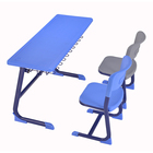 School Desk Chair Plastic School Study Classroom Colorful Durable Two-seat Students Desk And Chair