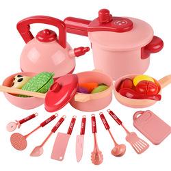 16 пакет игровой набор кухонной посуды набор Playset Развивающие детские игрушки для кухни, игрушки для детей, комплект с горшок