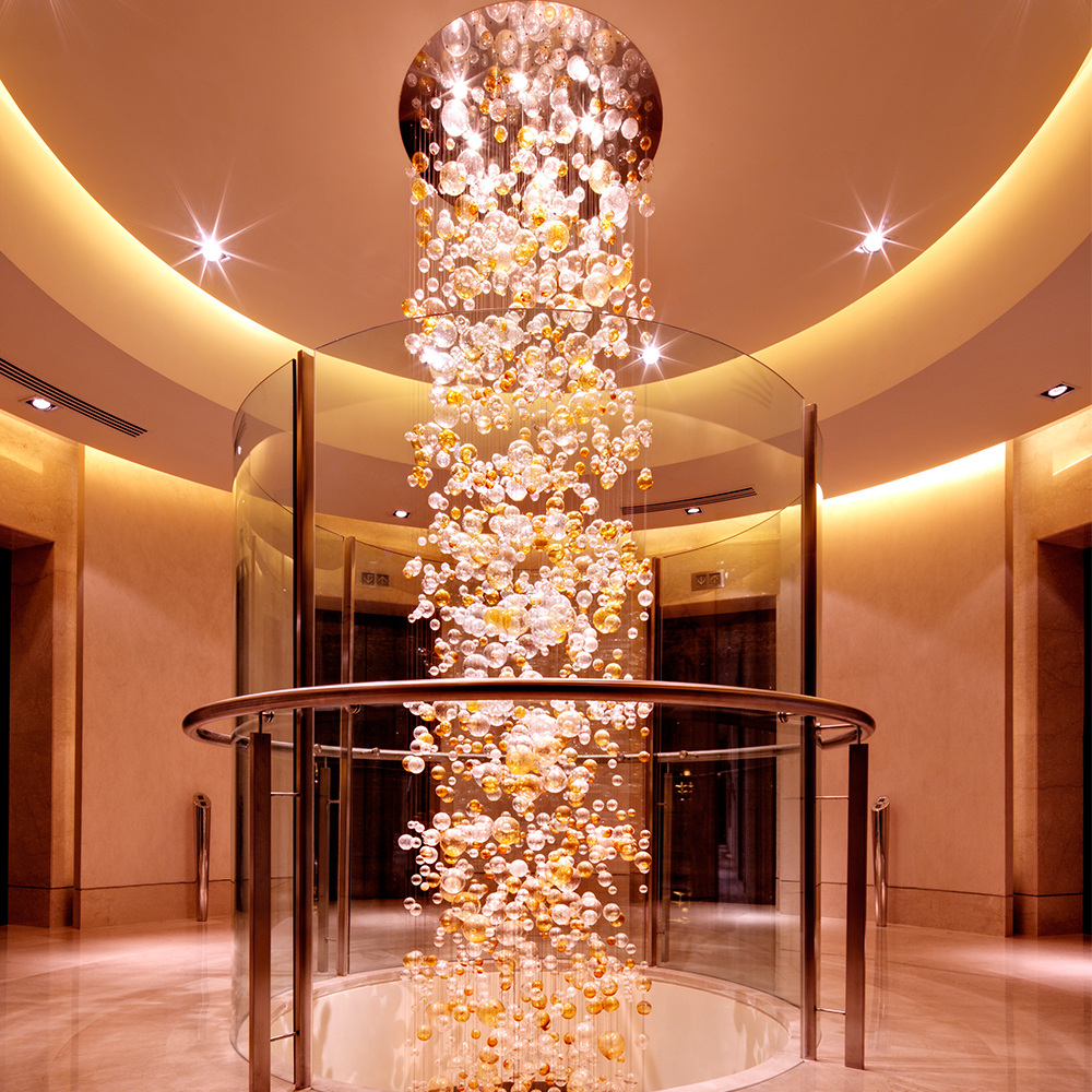 Modern High Ceilings Long Staircase Hand Blown Glass Chandelier Bubble Ball Pendant Lamp Buy Pendant Lamp Hand Blown Glass Chandelier Staircase Chandelier Product On Alibaba Com