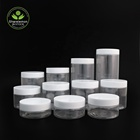 In Plastic Jars Plasticplasticplastic Plastic Jar In Stock 50ml 80ml 100ml 120ml 150ml 200ml 250ml 300ml 400ml 500ml Pet Plastic Jars For Food Or Cream Packaging