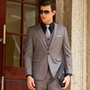 Men Gray suits(blazer+Vests+pants)