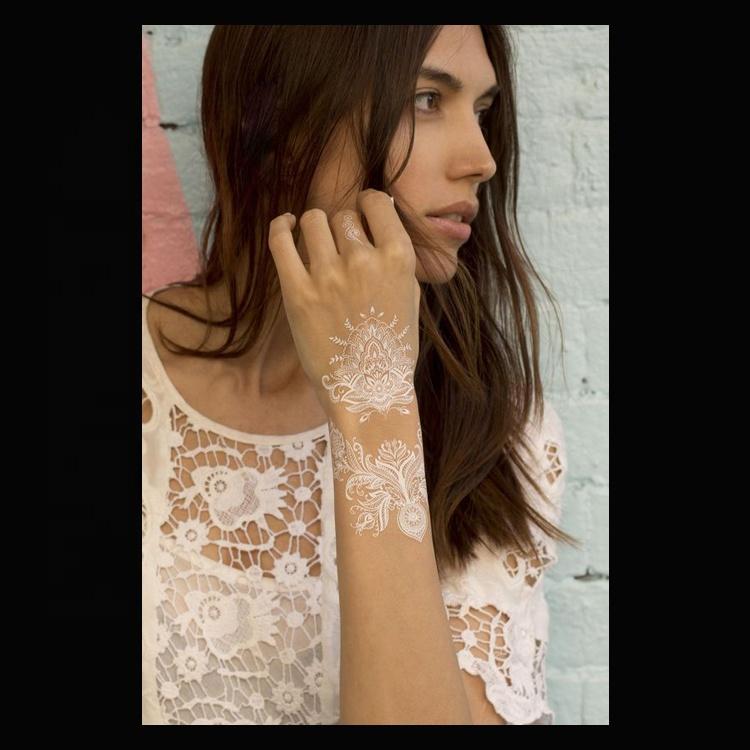 Personalized Eco-friendly Special White Henna Wedding Tattoo