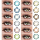 Lens Realkoko Manufacturer Wholesale Pretty Tri Color Conatct Lens Makeup Contact Lens 0.06 Mm New 3 Tone Contact Lens