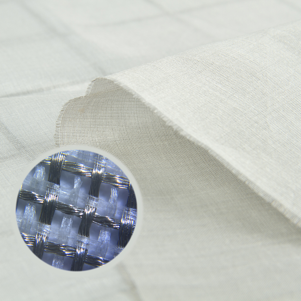 Mulberry Silk Anti-Radiation EMF/RF Shielding Silver Fiber Fabric For Scarf And Bandana