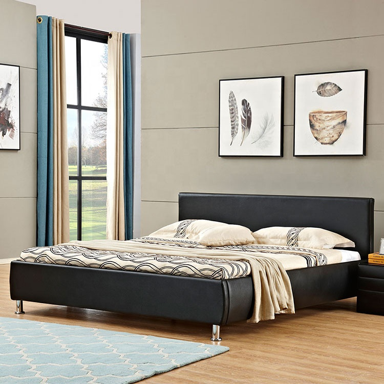 italian design cheap white colour modern faux leather beds