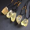rough Citrine quartz raw stone pendant