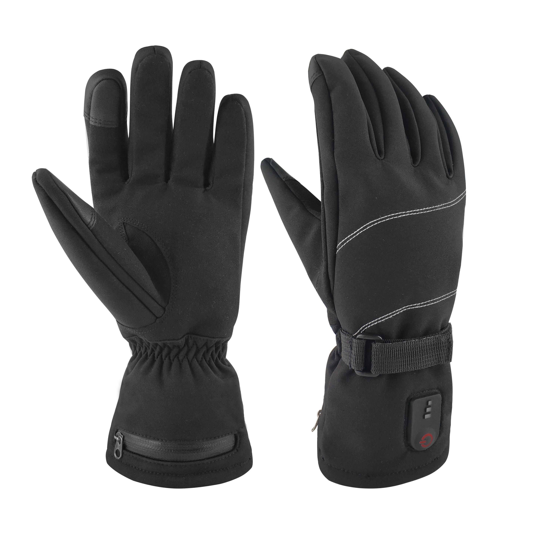 Перчатки с подогревом для катания на лыжах, охоте, мотоцикле, перезаряжаемые на литиевой батарее, 7,4 В