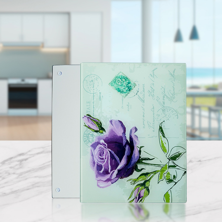 Muli Function White Blank Sublimation Clear Glass Cutting Board For Sale