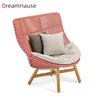 high back sofa chair with ash wood leg