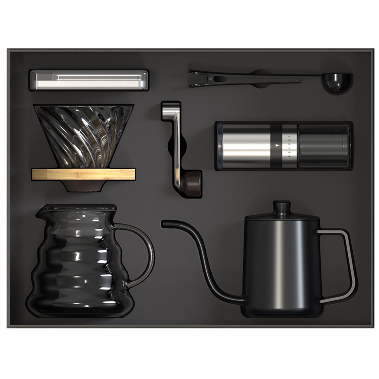 V60 Coffee Set Ceramic Coffee Grinder Dripper Filter Kettle Travel Bag Gift Kit Barista Tools Espresso Coffee Maker Set