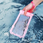 Cover Waterproof Bag Pvc Custom Swimming Hiking Pink Colorful Clear PVC Lanyard Waterproof Universal Mobile Phone Cover Bag
