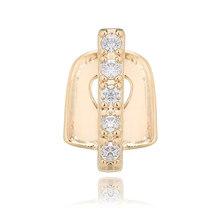 1 шт. серебряные золотые имитирующие кристаллические палочки, аксессуары для зубов в стиле панк, зубные золотые зубные колпачки, реппер, юве...(Китай)