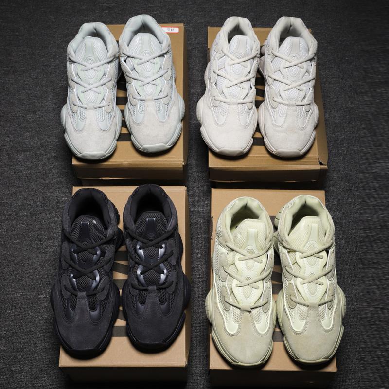 Новинка 2020, дизайнерские оригинальные высококачественные кроссовки Yeezy из натуральной кожи 500, стильные модные кроссовки Yeezy