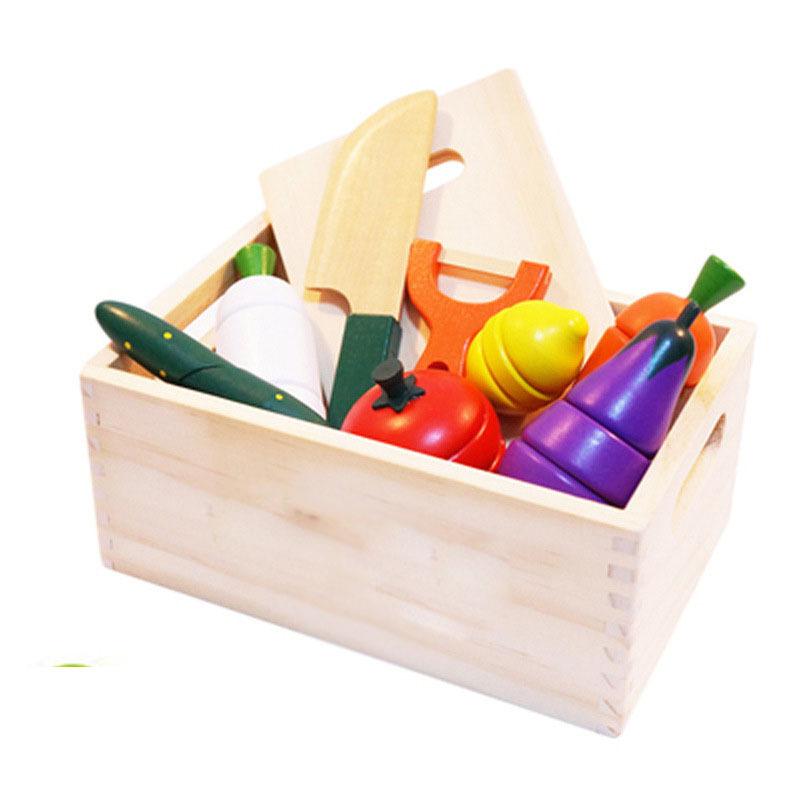 Продажа с завода, деревянная Магнитная игрушка, имитация фруктов и овощей, обучающая деревянная игрушка для детей