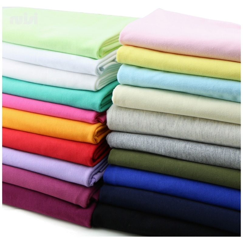 26s Combed 100% Tshirt Cotton knit jersey fabric for Clothing Material