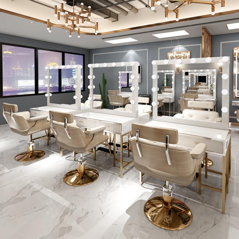 Professional Salon Furniture Hair Dressing Barber Shop Mirror Station