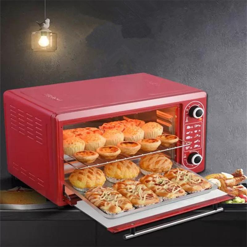 48L большой емкости, Малый бытовый Электрический духовой шкаф для пиццы для выпекания хлебобулочных изделий печь для дома небольшой кухонный прибор JC-EO-007
