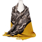 Snakeskin print pashmina shawl for cold weather Women scarf winter animal print scarf