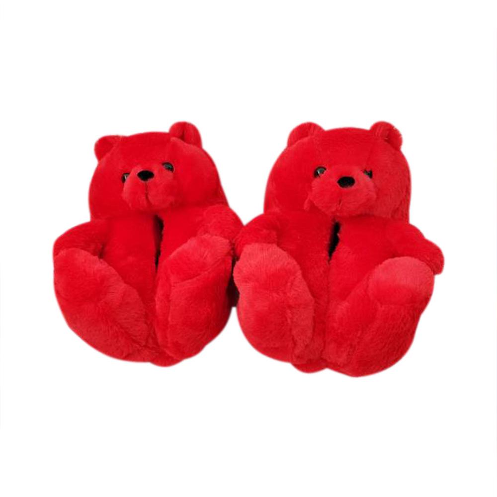 2021 Новинка; Лидер продаж; Тапочки; Мягкие и удобные цветной Мишка пушистый шлёпанцы для женщин