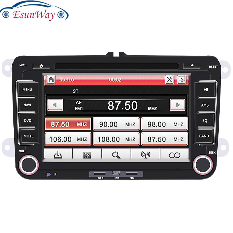 Автомобильный DVD-радиоплеер, 2 Din, 7 дюймов, Windows Ce, автомобильный мультимедийный плеер с GPS, BT, радио, стереопроигрыватель для Volkswagen