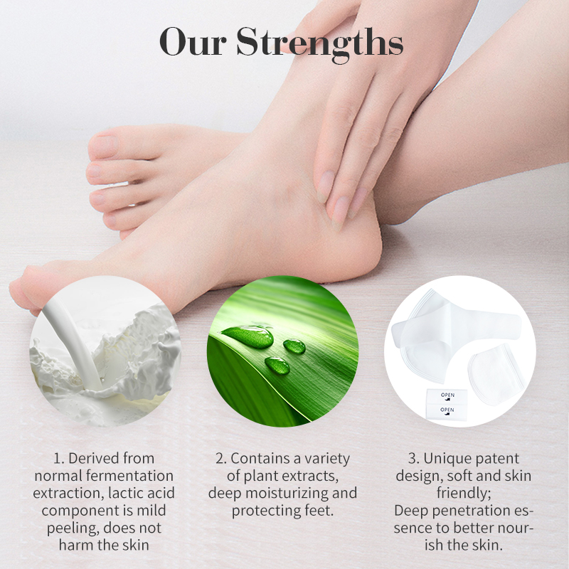 Exfoliating light and healthy remove dead skin heel patch gently repair skin foot mask